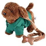 Yosoo Elektronisches Haustier Hund Niedlichen Plüsch Spielzeug Singende Walking Musical Puppy Pet Weiche Spielzeug für Baby Kids grün