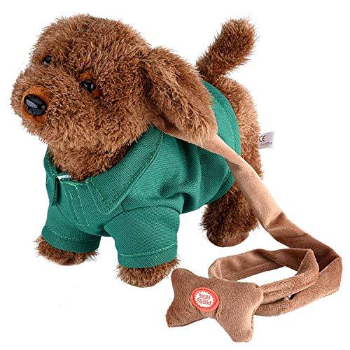 (Yosoo Elektronisches Haustier Hund Niedlichen Plüsch Spielzeug Singende Walking Musical Puppy Pet Weiche Spielzeug für Baby Kids grün)