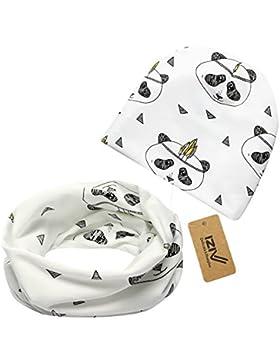 iZiv Babybekleidung Schals Niedliche Baby Kleinkind Kinder Cartoon drucken Hut Kappe Mütze + Schal Warp Set für...