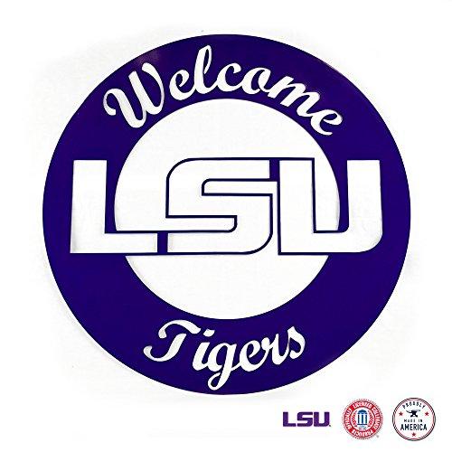 Gameday Ironworks LSU Tigers Wandschild aus Stahl Lsu Laser