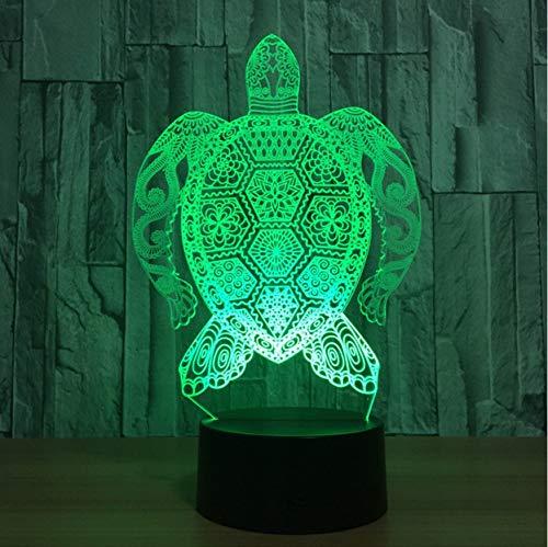 Nachtlicht Valentinstag Schlafzimmer Dekor Visuelle 3D Led Starke Sea Turtle Muster Tischlampe Usb 7 Farben Ändern Baby Schlaf Nachtlichter Geburtstagsgeschenke -