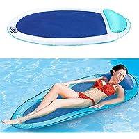 BaBaSM Praktisch Aufblasbarer Swimmingpool-Ruhesessel, schwimmender aufblasbarer Hin- und Herbewegungsschwimmwasser-Hängematten-Pool-Aufenthaltsraum-Bett-Stuhl
