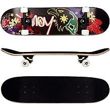FunTomia Skateboard mit MACH1 Kugellager Rollenhärte 92A und 9-lagigem Ahornholz