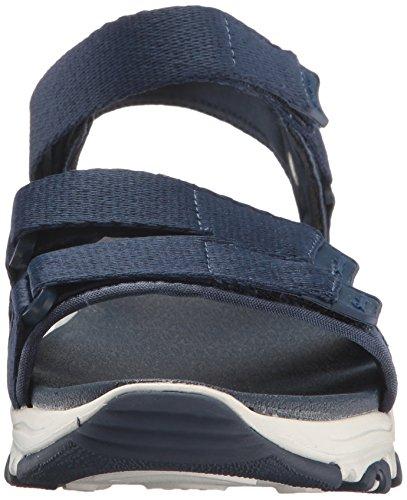 Skechers Cali Women's D'Lites-Fresh Catch Wedge Sandal Navy