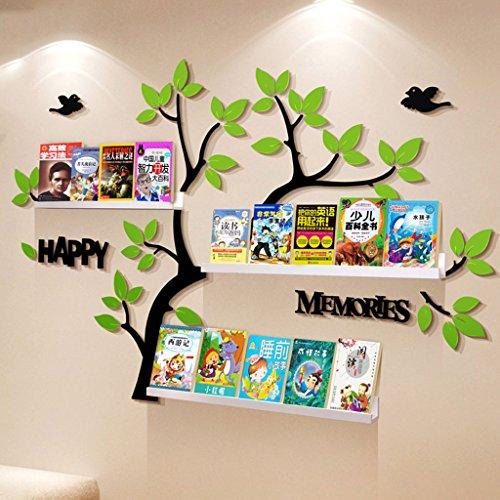 Lxf20 3D Acryl Wandaufkleber/Wand/Kinder Leseecke Regal Kulturwand (Farbe : B) (Leseecke Für Kinder)