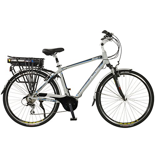 Shift Mens Lightweight Aluminium 700C Mid Drive Electric Hybrid City Bike