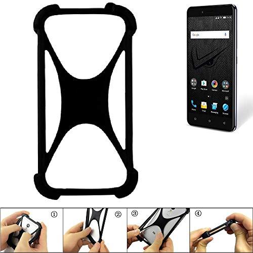 K-S-Trade Handyhülle Allview V2 Viper XE Silikon Schutz Hülle Cover Case Bumper Silikoncase TPU Softcase Schutzhülle Smartphone Stoßschutz, schwarz (1x)