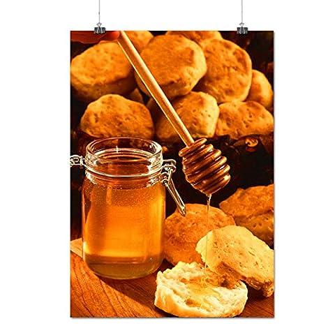 Honey Kitchen Photo Food Hard Cheese Matte/Glossy Poster A3 (42cm x 30cm) | Wellcoda