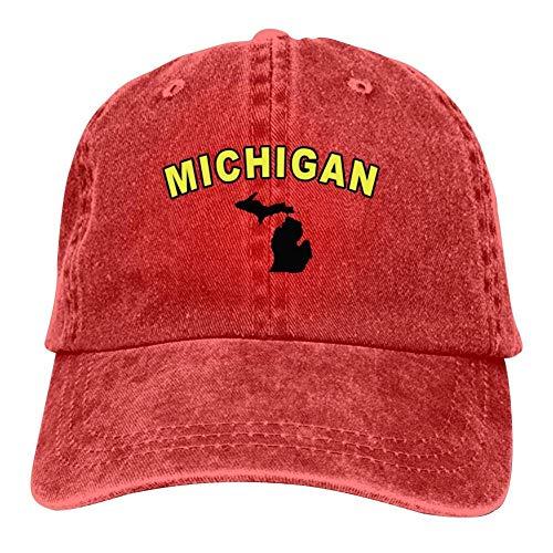 ingshihuainingxiancijies Männer Frauen Michigan Baseballmütze justierbarer Hut