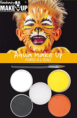 Kreul Fantasy Aqua Make Up Picture Tiger, 1er Pack (1 x 7 Stück) (Für Katze Halloween-make-up Die)