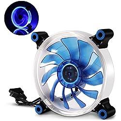 LATOW Ventilador de PC, 120mm LED Ventilador de Caja para Ordenador, Silencioso, Alta Velocidad de Rotación, Bajo Nivel de Ruido, Extraíble