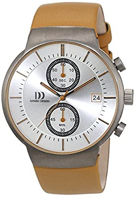 Danish design Herren-reloj analógico de pulsera de cuarzo cuero 3316342 de Danish Design