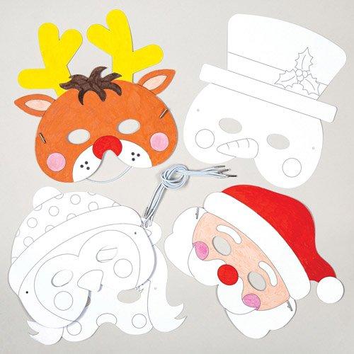 n für Kinder zum Bemalen, Verzieren und Spielen zu Weihnachten - Kreatives Bastelset zum Selbstgestalten (6 Stück) ()