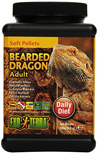 Exo Terra Soft Pellets Reptilienfutter für erwachsene Bartagamen 250 g, 1er Pack (1 x 250 g)