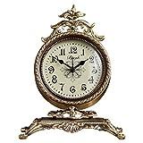 NNIU Tischuhr, Retro Non-Ticking Dekoration Kaminuhr Wohnzimmer Nachttisch Uhr
