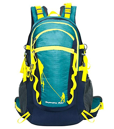 ZHANGOR Mountaineering Backpack Travel Backpack Waterproof Outdoor Sports Backpack Mountaineering Camping Fishing Tourism Cycling Skiing, A