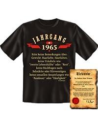 zum 50 Geburtstag Jahrgang 1965 - Keine sexuellen Anspielungen wie… 50 Jahre - Geburtsjahr 1965 T-Shirt mit URKUNDE : )