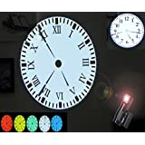 Novo(TM) LED Digital Light Wall / Desk Projection Clock with Remote Control(Arabia Number &Rome Dial free exchange)