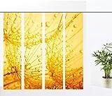 gardinen-for-life Flächenvorhang Dream Yellow - 4er - Serie, modernes Flächenvorhang Set 4tlg, jew. Gr.60x260 cm