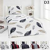 Warme Winter Microfaser Thermo Fleece Bettwäsche 135x200 155x220 Bettbezug Modern, Design -...