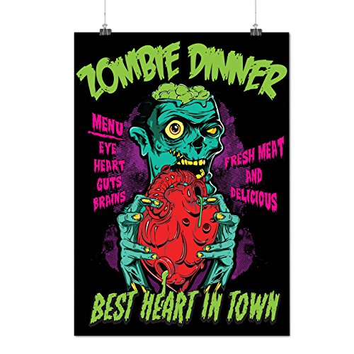 zombie-dinner-diner-fresh-meat-matte-glossy-poster-a2-60cm-x-42cm-wellcoda