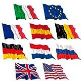 Set 10 bandiere 90 x 150 cm USA e Europa per hotel enti villaggi turistici