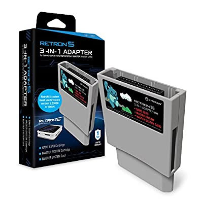 Hyperkin RetroN 5 3-in-1 Adapter for Game Gear, Master System Card - Sega Gear by Hyperkin