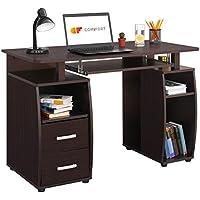 COMIFORT Mesa de Ordenador, Escritorio, Mesa de Oficina, 115x55x85 cm (WENGUÉ)