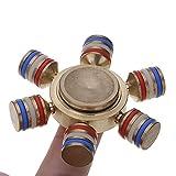 HuntGold Mini Timón Spinner Mano Juguete de Aleación,para Relax Y Práctica de Niños Adultos -- color al azar
