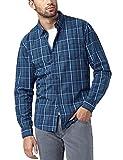 Pioneer Herren Freizeithemd KARO Hemd, Blau (Fjord Blue 570), 47 (Herstellergröße: XXL)