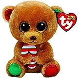 Ty TY-37240 Beanie Boos Navidad Bella-Osita Marrón 15 cm (37240TY),...