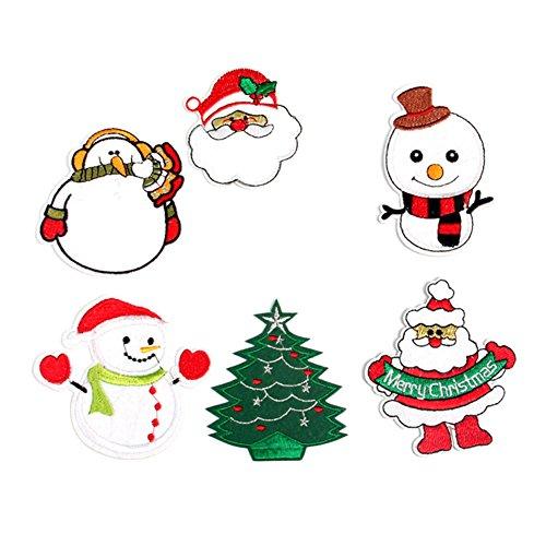 ücke Von Einem Satz Von Einem Verkauf Von Weihnachten Tuch Dekoration Kleidung Pullover Hosen Daunenjacke T-Shirt Tuch Schuhe Patch ()