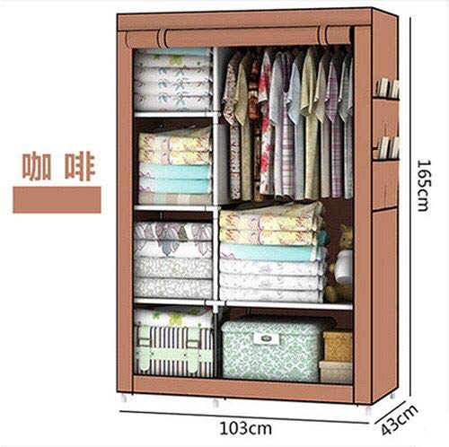 Kumaka-Single-Pole-Portable-Fabric-Collapsible-Fold-able-Clothes-Wardrobe-Color-Designs-May-Vary