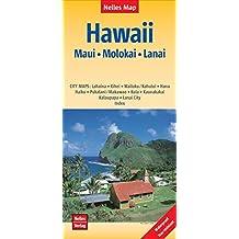 Nelles Map Landkarte Hawaii : Maui, Molokai, Lanai: 1:150.000 | reiß- und wasserfest; waterproof and tear-resistant; indéchirable et imperméable; irrompible & impermeable