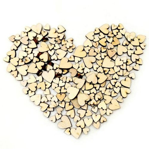 Bluelans� 100 Mini Mixed Wooden Hearts Embellishments for Craft