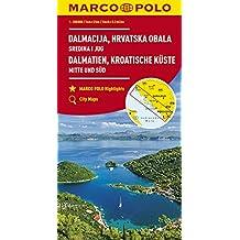 MARCO POLO Karte HR Dalmatien, Kroatische Küste 1: 200 000: Mitte und Süd (MARCO POLO Karten 1:200.000)