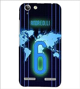 PrintDhaba Number 6 D-3914 Back Case Cover for LENOVO LEMON 3 (Multi-Coloured)