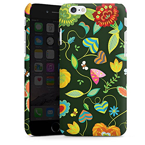 Apple iPhone X Silikon Hülle Case Schutzhülle Bunt Blumen Abstrakt Premium Case matt