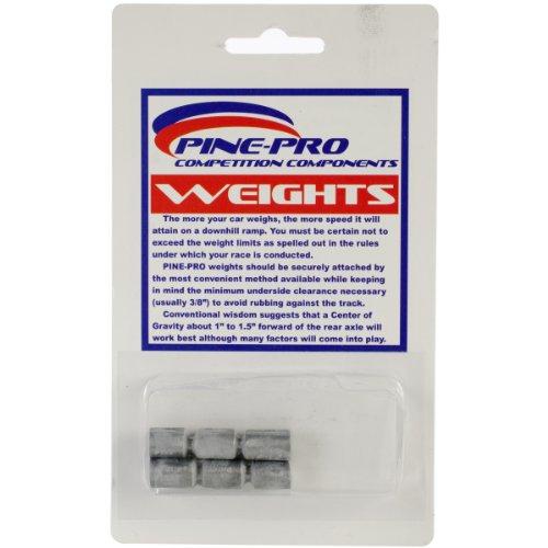 Kiefer Auto Derby Zylinder Gewichte, 42,5g, 6er Pack - Derby Gewichte Kiefer