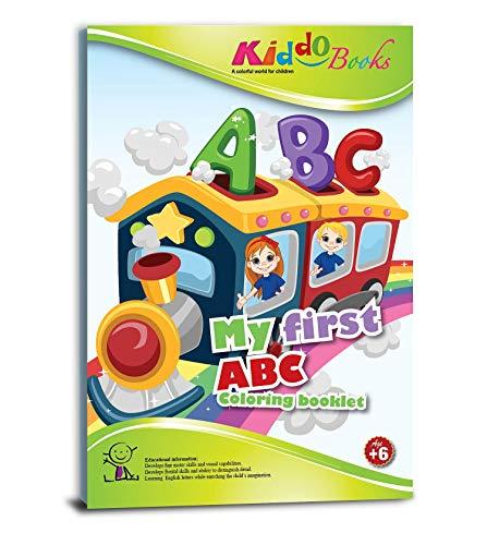 QuackDuck Malbuch My First ABC in English - Mein erstes ABC auf englisch - Coloring Booklet - Malbuch mit farbigen Motiven und Buchstaben - Malblock für Kinder ab 6 Jahre (4019)
