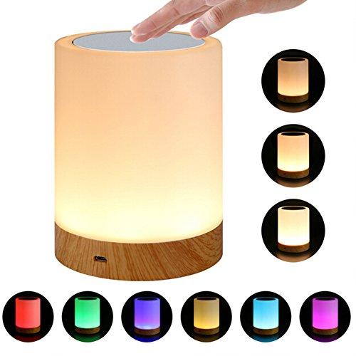 Lámpara de mesita de noche con sensor táctil