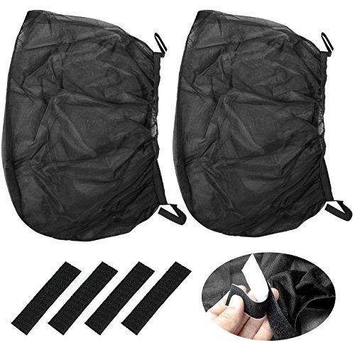 Preisvergleich Produktbild TRIXES 2 Stück schwarze Fliegengitter für Auto Seitenfenster aus Nylonnetz zum Schutz vor Sonne und Insekten