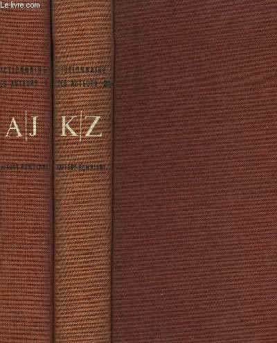 Dictionnaire des auteurs. en 2 tomes par COLLECTIF