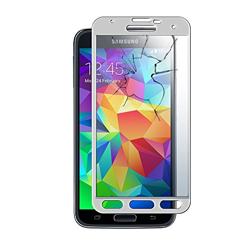 MoArmouz® Super Tempered Glass Screen Protector for Samsung S5 - 9H Hardness Toughened - Scratch Resistant Screen Guard - Guaranteed Protection / HD / Mobile Accessories / Screen Protectors / Mobiles & Tablets (Silver)