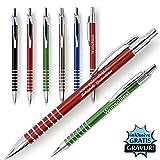 polar-effekt 1 Metall Rings Kugelschreiber mit Gravur des Namens - Personalisierte Geschenk-Idee zum Geburtstag Mitbringsel - blau schreibend | Farbe blau