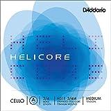 D\'Addario Bowed Corde seule (La) pour violoncelle D\'Addario Helicore, manche 3/4, tension Medium