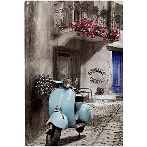 A.G.S. Retro Blechschild Vespa Roller Motorroller Piaggio Nostalgie Metallschild Italia