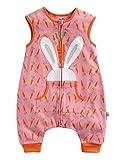 Vaenait baby Maedchen Babyschlafsack Baumwolle Cotton Sleepsack Secret Bunny Sleep L