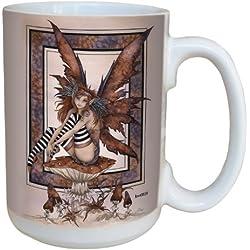 Árbol de-free de felicitación lm43553 15 oz Fantasy Naughty taza de cerámica con diseño de hada con mango completo