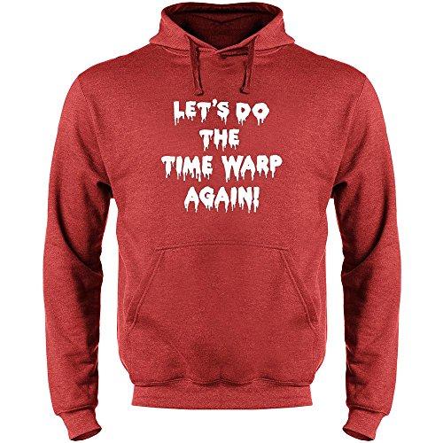 Pop Threads Let's Do The Time Warp Again! Mens Fleece Hoodie Sweatshirt by